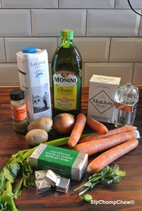 SCC Carrot and Coriander Soup Ingrediants