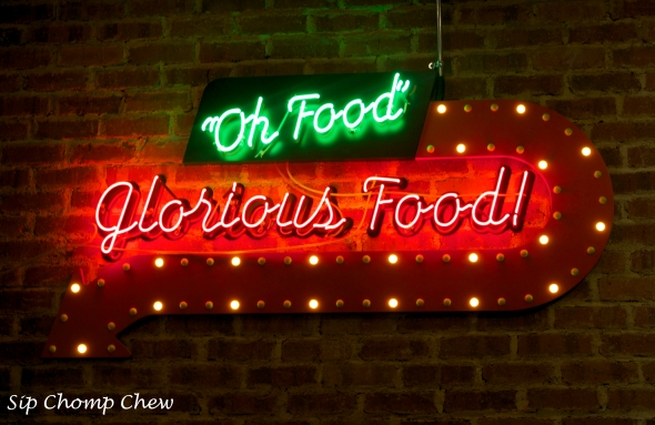 SCC Food Glorious Food Sign