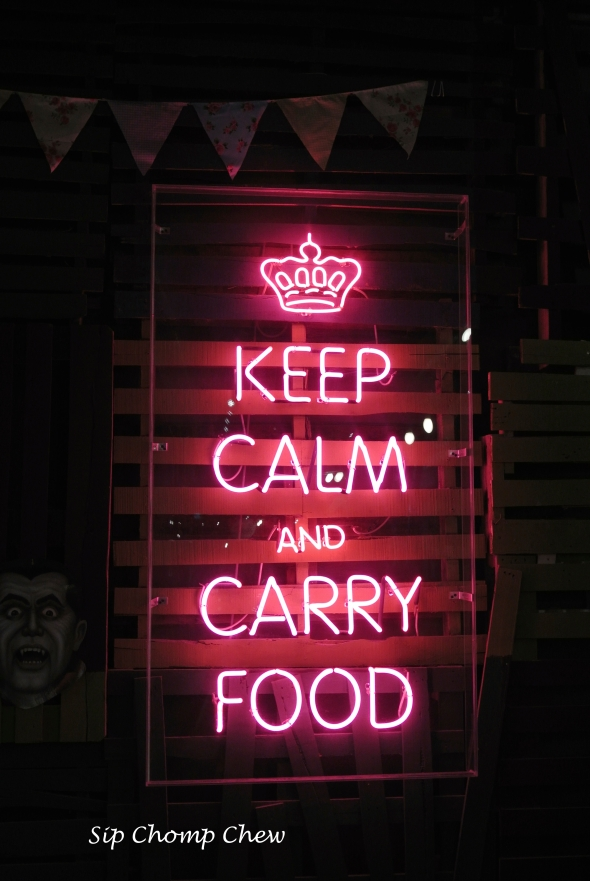 SCC Keep Calm Food Sign