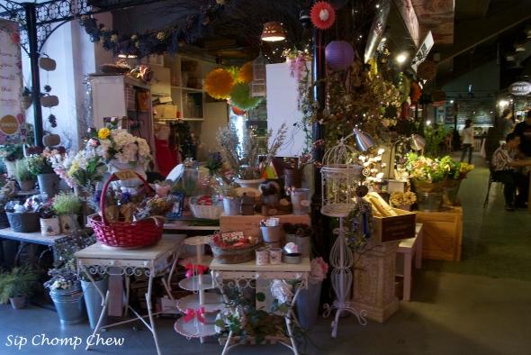 A pretty florists stall