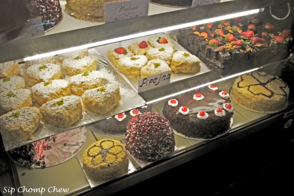 Some delicious looking Russian cakes. I vow to try the pomegranate next time.