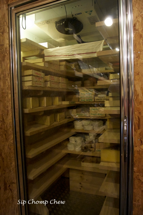 One of their cheese cellars