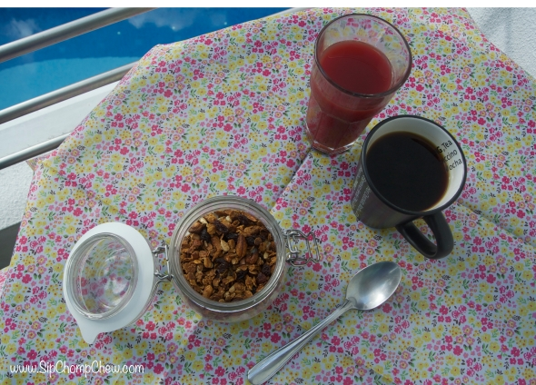 SCC Granola with pool in the background